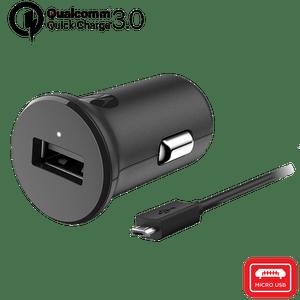 Ładowarka samochodowa Motorola z technologią szybkiego ładowania TurboPower™ 18 z kablem micro USB do transmisji danych