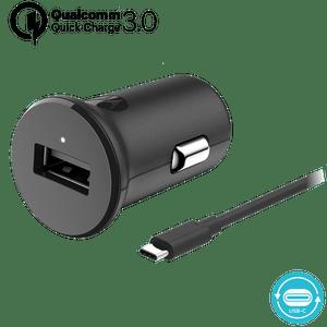 Ładowarka samochodowa Motorola z technologią szybkiego ładowania TurboPower™ 18 z kablem USB-C do transmisji danych