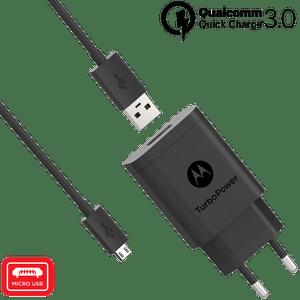 Ładowarka Motorola TurboPower ™ 18 z kablem micro USB do transmisji danych