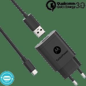 Ładowarka Motorola z technologią szybkiego ładowania TurboPower ™ 18 z kablem USB-C do transmisji danych