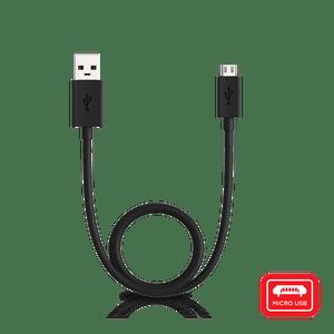 Kabel Motorola USB z możliwością łączenia portów USB-A oraz micro-USB o długości 1 metra